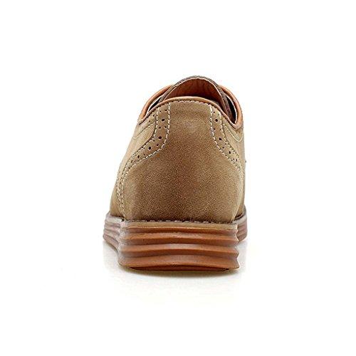 ZXCV Zapatos al aire libre Hombres sigilo dentro del aumento de zapatos casuales Khaki