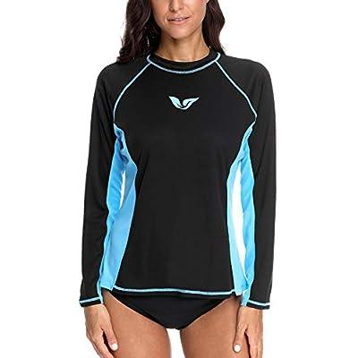 ATTRACO Women's Swim Shirts Long Sleeve Rash Guard UPF 50 Sun Protection Swimsuit Top: Clothing