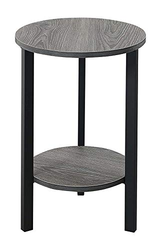 Convenience Concepts Graystone 24 Plant Stands, Weathered Gray Black