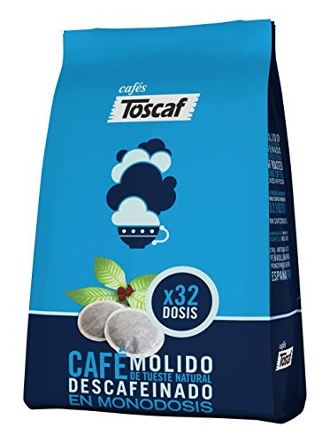 Toscaf Café Descafeinado, Monodosis Blandas - 32 unidades: Amazon.es: Alimentación y bebidas