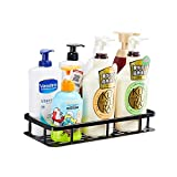 Gricol Bathroom Shower Shelf Wall Shower Caddy Space Aluminum Self Adhesive No Damage Wall Mount (Black 98503FB)