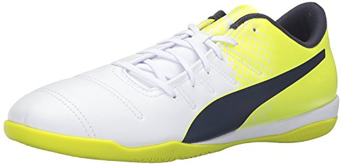 Puma Mens Evopower 4.3 Tricks IT Soccer Shoe, White/Peacoat/S, 40.5 D(M) EU/7 D(M) UK