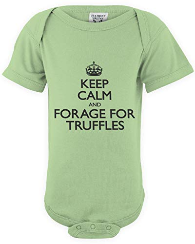 shirtloco Baby Keep Calm and Forage for Truffles Infant Bodysuit, Key Lime 6 Months ()