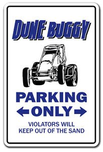 Vinyl USA Dune Buggy Street Sign Decal Racing Buggie Driver Gift Kid Child boy Girl Wall Entry