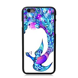 Elonbo Beautiful Peacock Plastic Hard Back Cover for iPhone 6 Case 4.7 inch