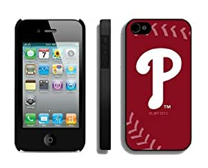Best Case for Iphone 4/4s Hard Cover Mlb Philadelphia Phillies Sport Design Coolest Phone Protector