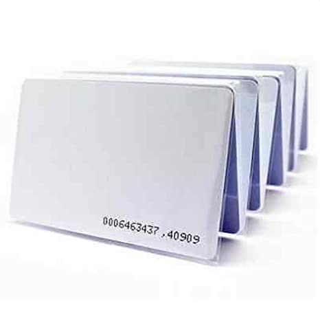 100pcs Waterproof RFID Proximity EM Thin Cards for Door Entry Access Control