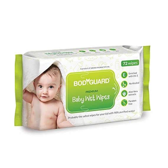 BodyGuard Baby Wet Wipes - (1 Packs, 72 Wipes per Pack)