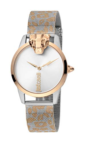 Just Cavalli JC1L057M0305 316L Stainless Steel Mineral Crystal Deployment Buckle Watch