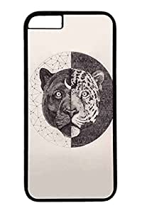 iPhone 6 Plus Case, Customized Slim Protective Hard PC Black Case Cover for Apple iPhone 6 Plus(5.5 inch)- Circle Tiger