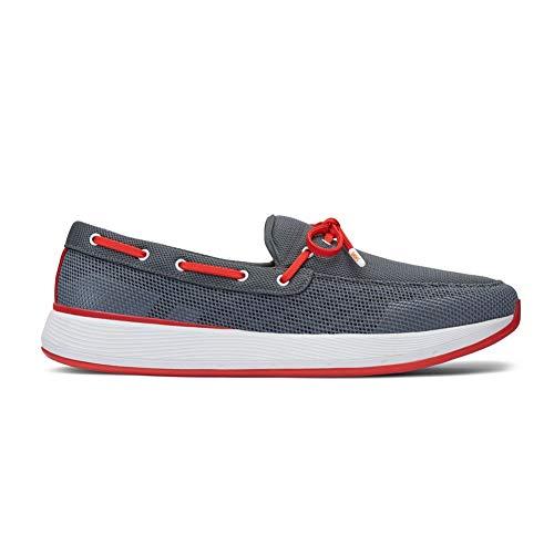 Breeze Mens Shoes - SWIMS Men's Breeze Wave Lace Gray/Red Alert 9.5 M US