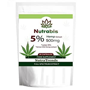 Nutra Hemp Oil Capsules 500 mg, Vegan, UK Produced...