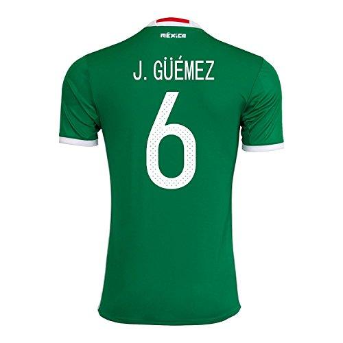 崇拝します熱望するバラエティJ. Guemez #6 Mexico Home Jersey Copa America Centenario 2016 / サッカーユニフォーム メキシコ ホーム用
