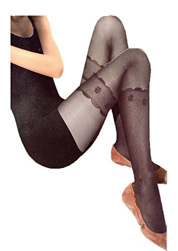 Floraux Legging Composent Sans Votre Extensibles Bonneterie Pieds Collants Manchette Plein Lacet A7AfrqP