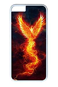 iPhone 6 Case, Personalized Unique Design Covers for iPhone 6 PC White Case - Fire Bird
