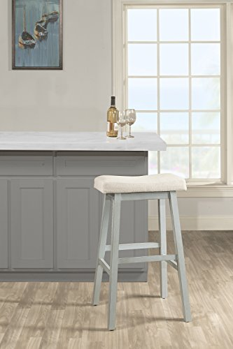 Hillsdale Furniture 5580-828B Hillsdale Moreno Non-Swivel Backless Blue Gray Counter Stool Height