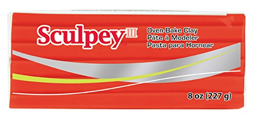 Sculpey III Polymer Clay 8 Ounces-Red Hot Red