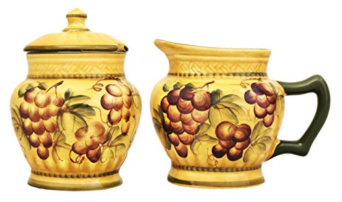 Decor Grape (SUGAR & CREAMER SET TUSCANY GRAPE WINE DECOR)