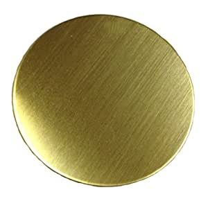 "RMP Stamping Blanks, 1 1/2"" Round, .032"" (20 Gauge) Brass - 20 Pack"
