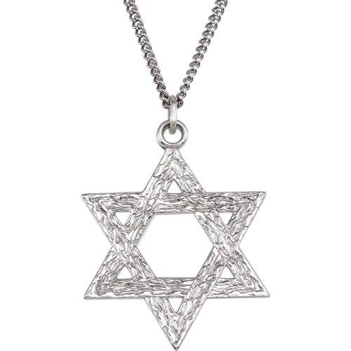 (Sterling Silver Star Of David Pendant 25.25x22.75)