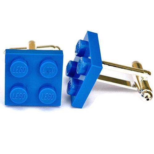 Lego® Plaque boutons de manchette (Bleu), mariage Mariés, Idée Cadeau pour Homme SJP Cufflinks 001