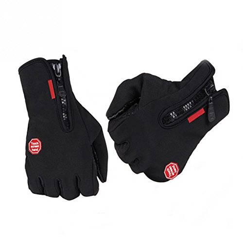 Secologo Winter Skatiing Windproof Gloves Sports Waterproof Mitten Bike Motorcycle Warm Screen Touching Glove