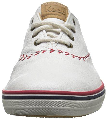 Keds Femmes Champion Fanion Baseball Mode Sneaker En Cuir Blanc