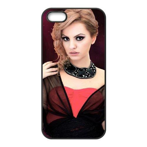 Alexandra Stan Blondynka coque iPhone 4 4S cellulaire cas coque de téléphone cas téléphone cellulaire noir couvercle EEEXLKNBC22852