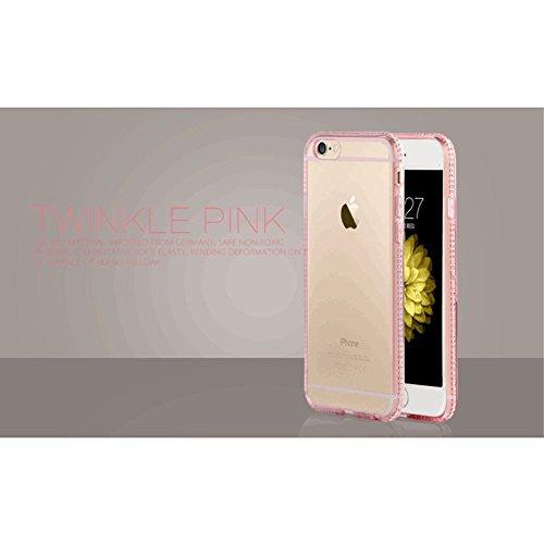 Apple iPhone 6/6S Étui Housse Case TPU/gel TPU Transparent Rose decui Rose Gel Coque