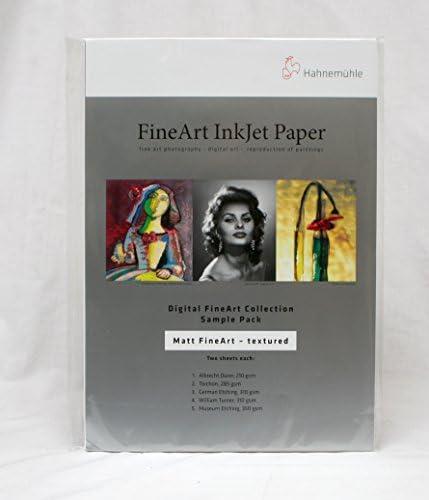 Hahnemühle 10640304 Digital FineArt Samplepack, Textured, matt struktur, 210 x 297 mm,