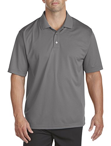 Reebok Big & Tall Golf Play Dry Solid Polo (6XTall, Shark Grey) ()