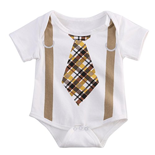 Gotd Newborn Infant Baby Girl Boy Jumpsuit Romper Bodysuit Outfits Clothes (6 Months, White)