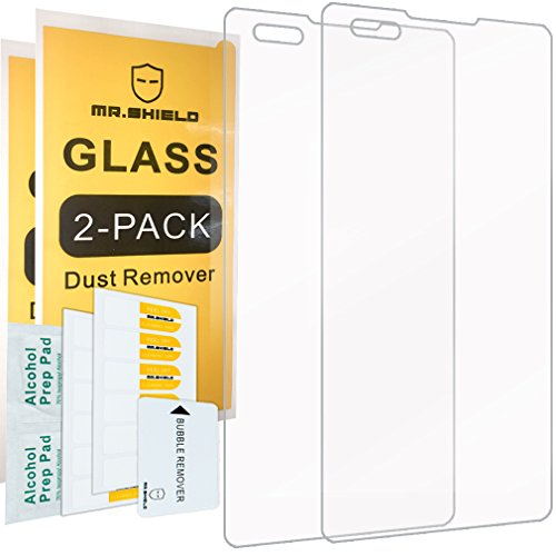 [2-PACK]-Mr Shield For LG Tribute HD  [Tempered Glass] Screen Protector with Lifetime Replacement Warranty