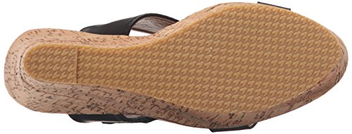 Wedge Finesse Lips Too Women 2 Too Black Sandal q78wX