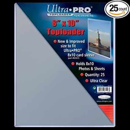 25 Pack Southern Hobby 81146 Ultra Pro 8 X 10 in Top Loader