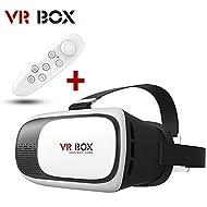 Ruichenxi VR lunettes lunettes de réalité virtuelle avec l'objectif réglable et Strap pour les téléphones intelligents iPhone 5s / 6 / 6s / 6 Plus / 6s Plus Samsung S6 S7 bord Note 4 VR Box pour les films et les jeux 3D