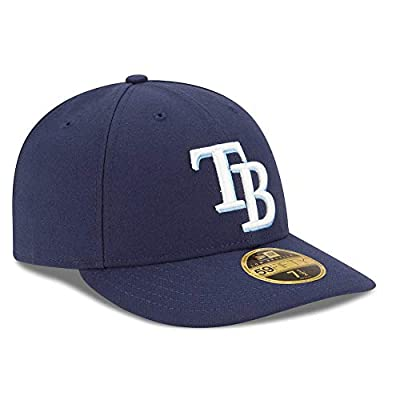 Tampa Bay Rays Low Profile Fitted Size 7 3/4 Size Hat Cap - Navy Blue