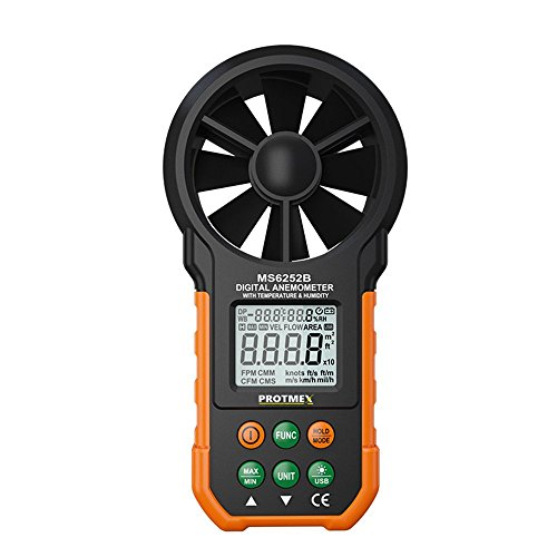 - Protmex MS6252B Digital Anemometer Humidity Temperature Testers Meters USB Handheld LCD Electronic Wind Speed Meter Air Volume Measuring Meter Backlight