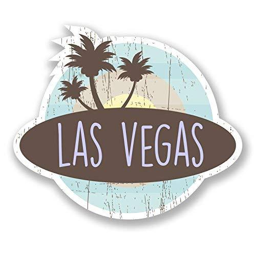 hiusan 2 x Las Vegas Nevada USA Vinyl Stickers Decals Travel Luggage Tag Lables Car Window Laptop Ipad Envenlop Stickers(10cm W x 8.5cm -