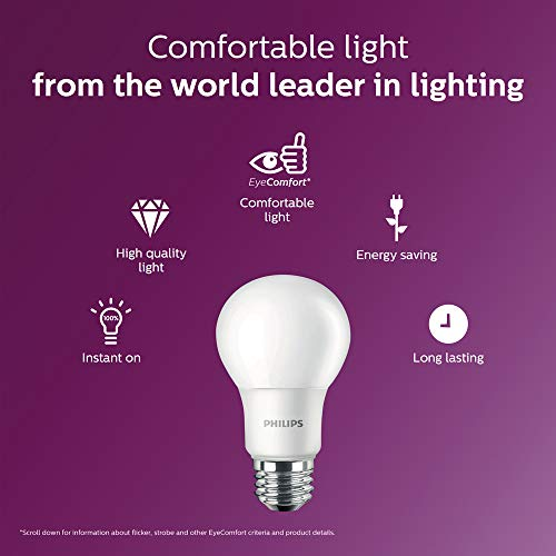 Philips 16 Pack of LED Non-Dimmable A19 Frosted Light Bulbs