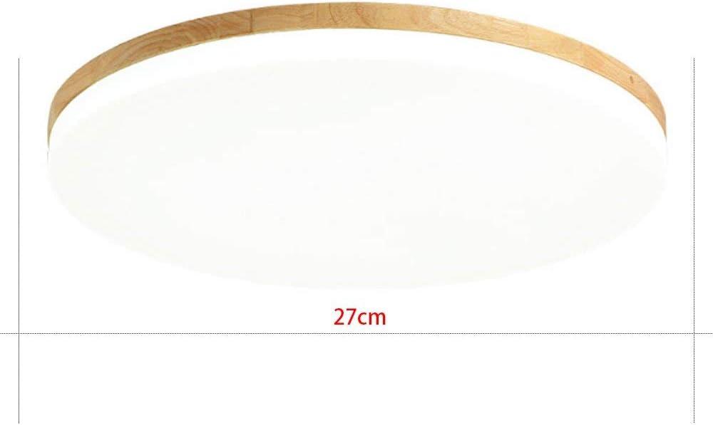 MyLjp Deckenleuchte aus Holz Ultra-dünnen Wohnzimmer Lampe runden Hause einfache Eiche Deckenleuchte Schlafzimmer Retro-Deckenleuchte mit LED-Linse Zimmer Licht Küche Innen Flur Beleuchtung AC220V Warmes Licht-27cm