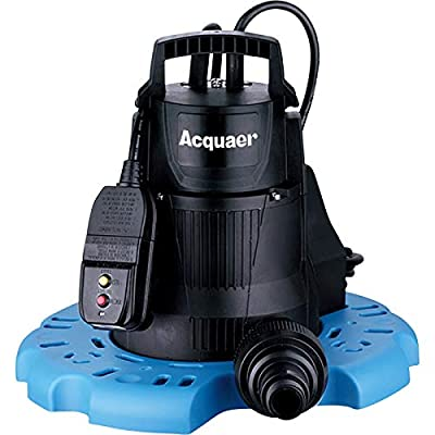 Acquaer Submersible Pool Cover Pump — 2300 GPH, 1/4 HP, 1 1/4in. Port, Model# PCP025