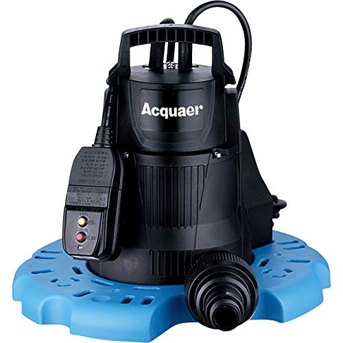 Acquaer Submersible Pool Cover Pump - 2,300 GPH, 1/4 HP, 1 1/4in. Port, Model Number PCP025 by Acquaer