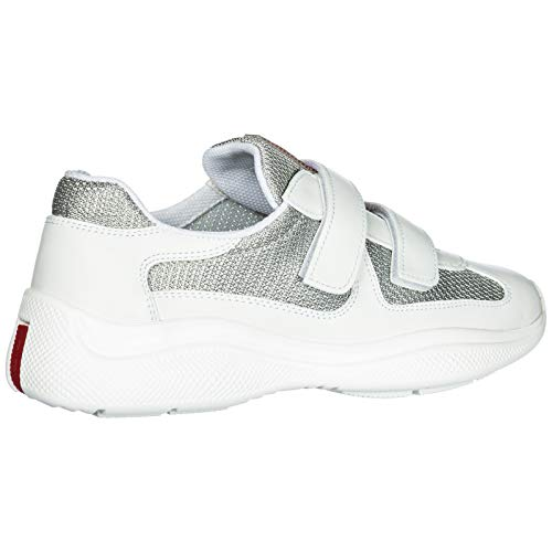 Sneakers Cup Bianco America's Prada argento Donna HSg4qx4nwp