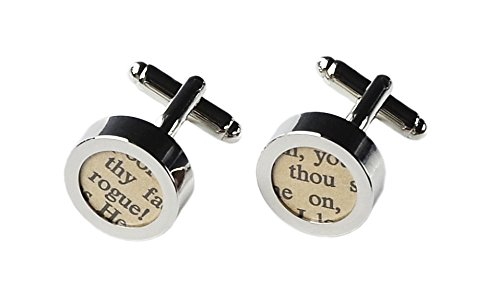 Quality Handcrafts Guaranteed Genuine Vintage Recycled Shakespeare Play Cufflinks