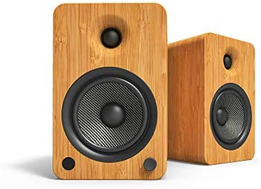Kanto YU6BAMBOO Bluetooth Powered Speakers200 WattsPhono Preamp Bamboo