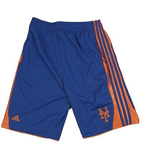 New York Mets MLB Big Boys 3-Stripe Shorts, Blue Adidas