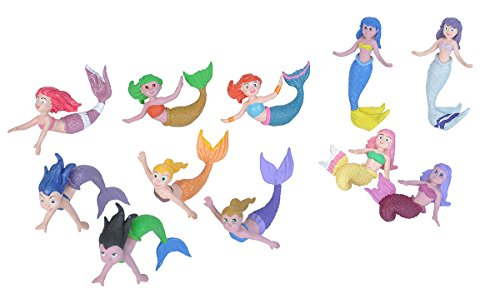 Wild Republic Mermaid Figurines Tube, Mermaid toys, Underwater, Sirens, Kids Gifts, 10-Piece]()