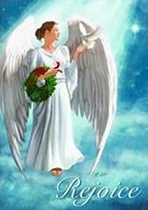 Angels Rejoice Christmas Garden Flag