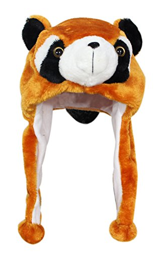 Bioterti Plush Fun Animal Hats –One Size Cap - 100% Polyester With Fleece Lining (Brown (Cute Teen In Bunny Costumes)